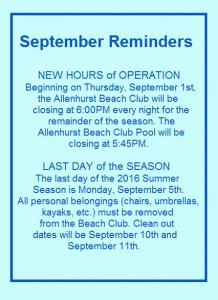 september reminders